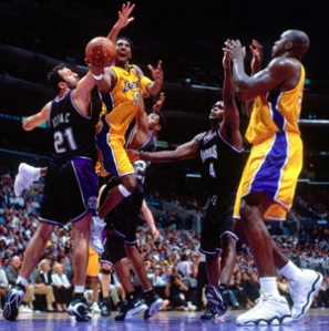 Kobe and Shaq took to the Kings while with the Lakers