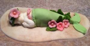 Baby Mermaid Cake Topper
