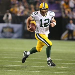 Rodgers did it with his feet Sunday night. 6 rushes for 31 yards