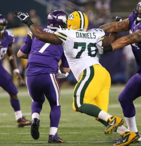 Mike Daniels had 2 sacks on Sunday night