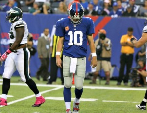 If Eli Manning looks like this on Sunday, its a good thing for the Packers