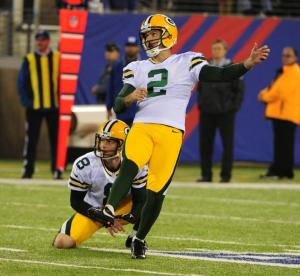 Mason Crosby sets a Packers outdoor record by hitting a 57 yard field goal