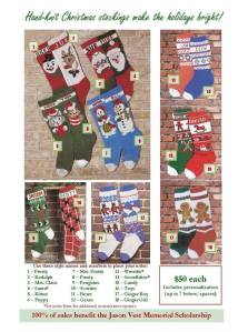 Here are some examples of the Christmas stockings
